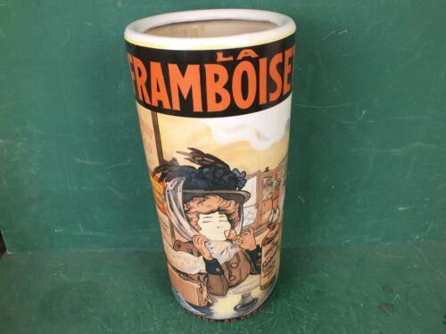Große Vase Bodenvase Schirmständer Keramik Antik Repro Reklame La Framboisette