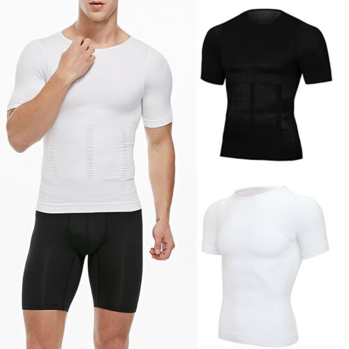 SHAPERIN Men Body Toning T-shirts Ultra Durable Body Compression Shapewear Tops