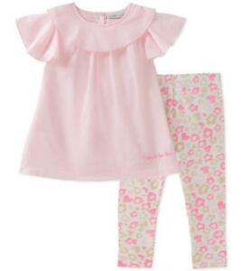 c416cb2684f5 Calvin Klein Infant Girls Pink Tunic 2pc Legging Set Size 3 6M 6 9M ...
