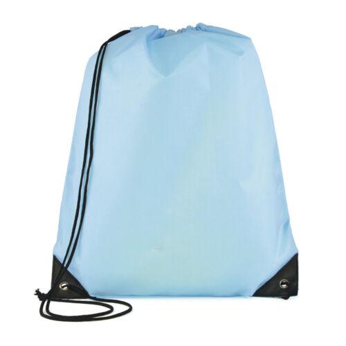 New School Drawstring Bag Waterproof Sports Gym Sack Swim PE Kit Sports Bag ^C
