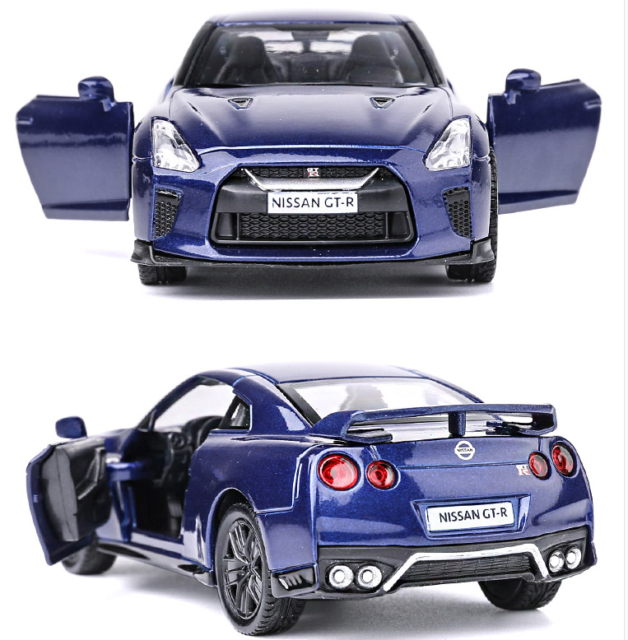 Model Cars Nissan Gtr R35 1 36 Toys Open Two Doors 5 Gifts Alloy