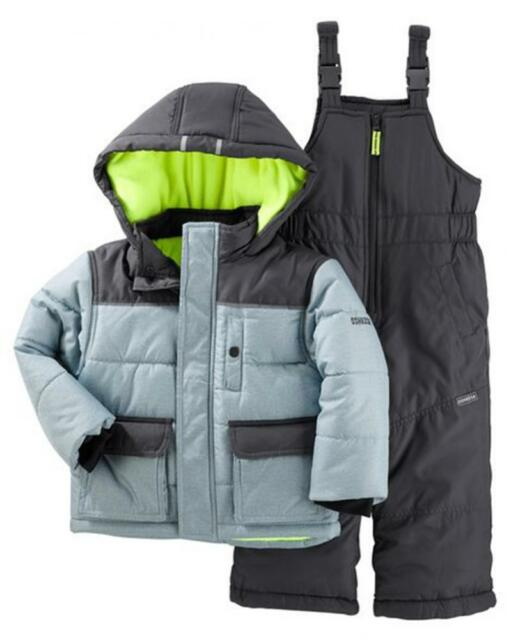 89c2bf5d288d Oshkosh Bgosh Osh Kosh Baby Boys Ski Jacket and Snowbib Snowsuit Set ...