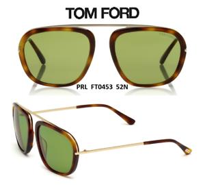 2fe0e692825 Tom Ford TF453 52N Johnson Men s Sunglasses Dark Havana Gold New ...