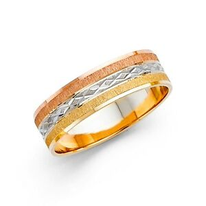 Image Is Loading Mens Wedding Band Ring Solid 14k Yellow White