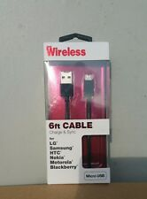 Wireless Just 6ft Connector USB Charge Sync Cable Apple IPhone Ipad Office Home