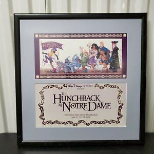 The Hunchback Of Notre Dame Disney Framed Store Display VTG 90's 1996