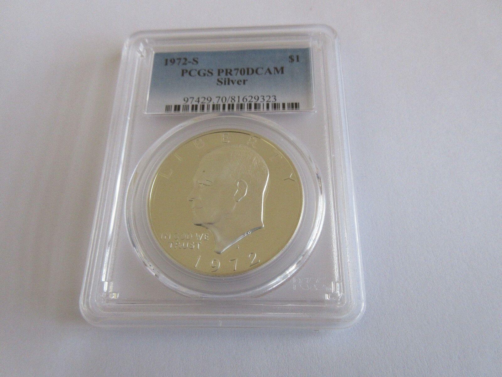 1972-S , Eisenhower , Silver Dollar , PCGS, PR70DCAM