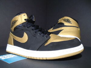 los angeles 6c3bb e08be NIKE AIR JORDAN I RETRO 1 HIGH MELO CARMELO BLACK GOLD WHITE 332550 ...