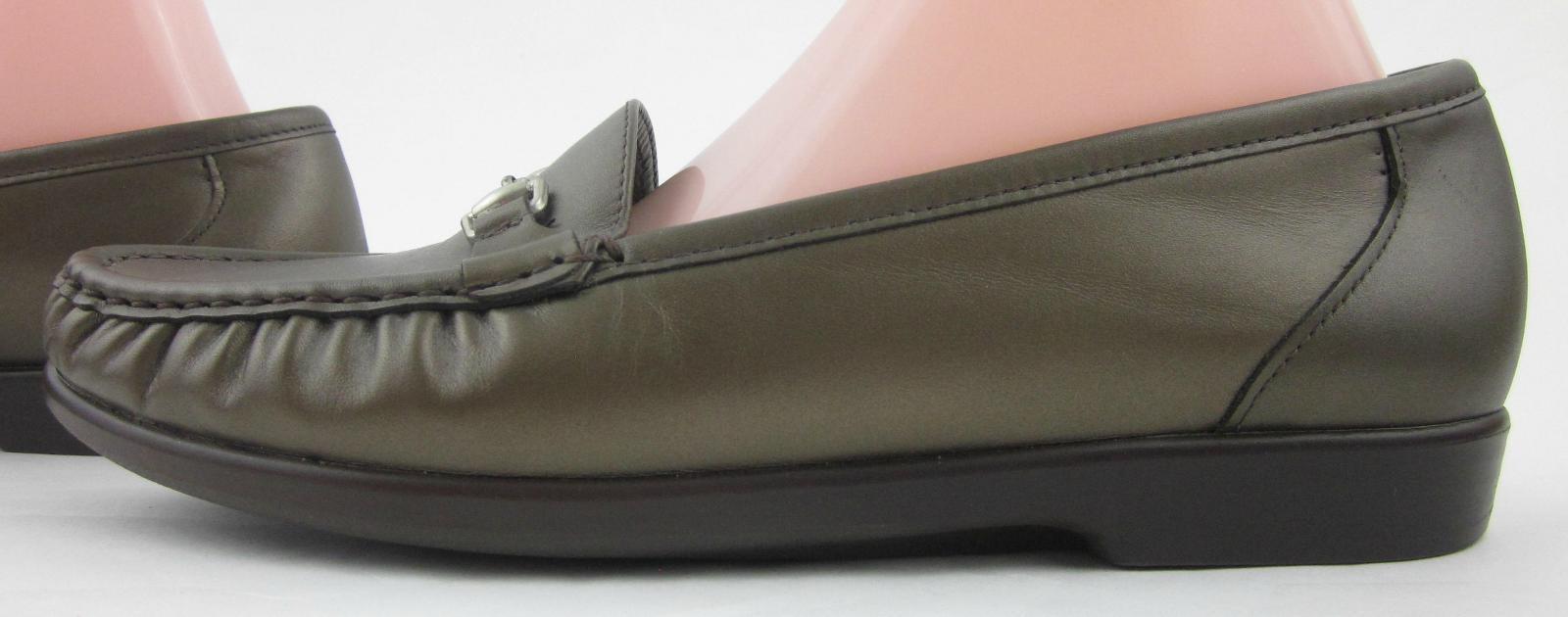 New    SAS Metro Slip On Comfort Loafers Bronze Leather US 10M f348d3