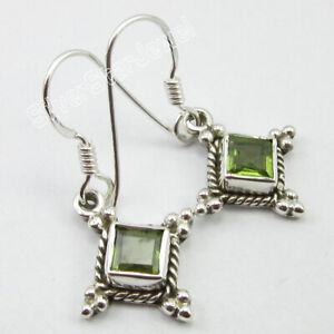 925-Sterling-Silver-Natural-Green-5-x-5-mm-Peridot-Drop-Dangle-Earrings-1-2-034