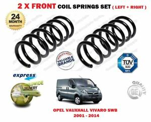 FOR OPEL VAUXHALL VIVARO X83 VAN BUS 2001-2014 2 X FRONT COIL SPRINGS SET