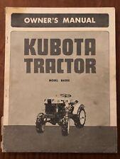 Kubota Model B6000 Tractor Owners Manual