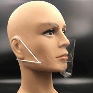 Durchsichtige Gesichtsvisier Mund Nase Schutzvisier Gesichtsschutz 4 Stk