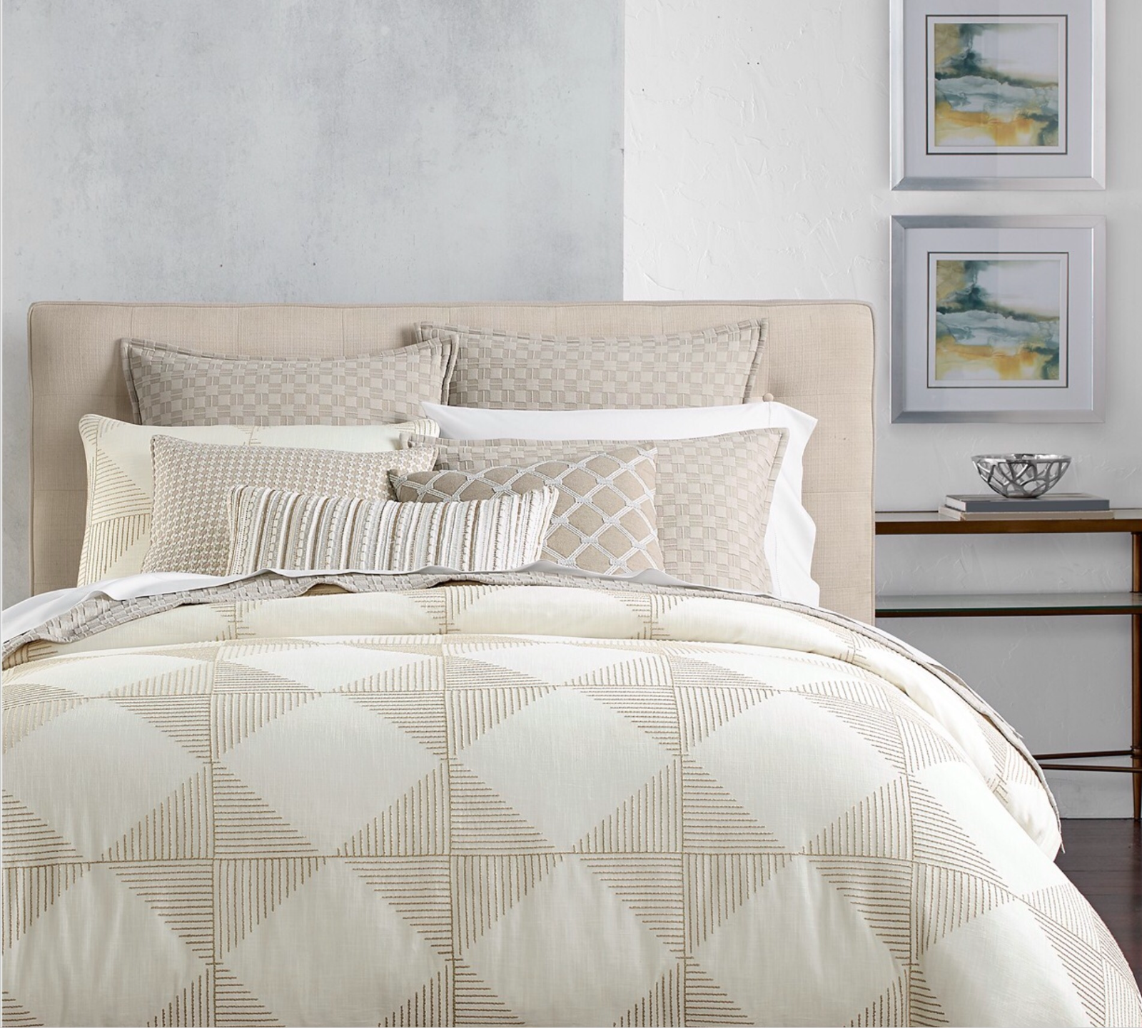 HOTEL COLLECTION DIAMOND EMBROIDErot KING DUVET