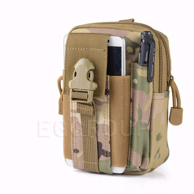 Military Tactical Waist Bag Back Pack Wallet Purse Pouch Universal Phone Case