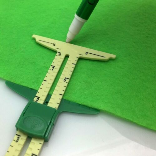 5-IN-1 SLIDING GAUGE WITH NANCY ZIEMAN Measuring Sewing Tool Triangles Tool