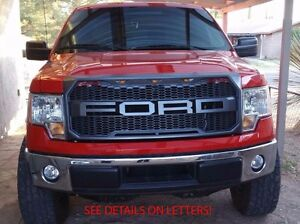 image is loading 2009 2014 ford f150 raptor grille grill black - Black Ford F150 Raptor 2014