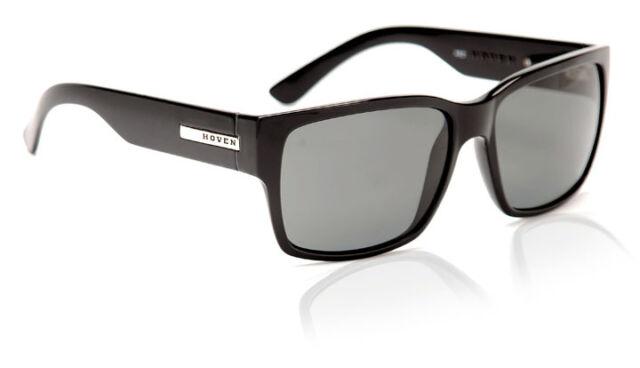 af8391d2580 Hoven Mosteez 51-0102 Polarized Rectangular Sunglasses Black Gloss 62 Mm
