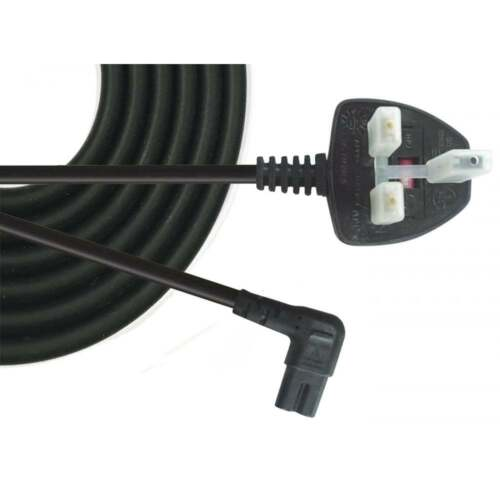 Power Cord UK Plug to Right Angle C7 Figure 8 Fig of 8 Lead Cable 3m 5m /& 10m