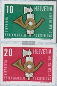 Schweiz-672-673-kompl-Ausgabe-postfrisch-1959-NABA-St-Gallen