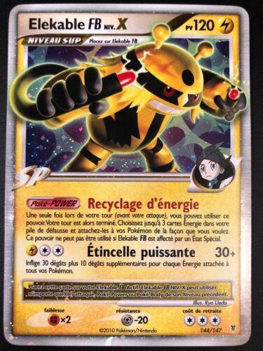 Carte Pokemon ELEKABLE FB 144//147 Niv X Holo Ultra rare PLATINE FR NEUF