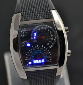 ASAMO-Herren-Damen-LED-Digital-Armbanduhr-mit-Silikon-Armband-Uhr