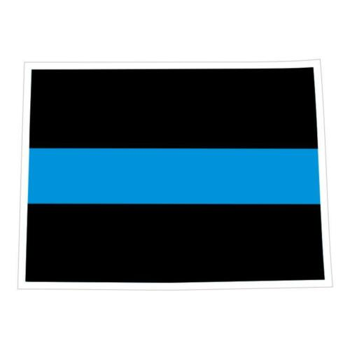 Decal #173 Made in U.S.A. Colorado CO State Thin Blue Line Police Sticker