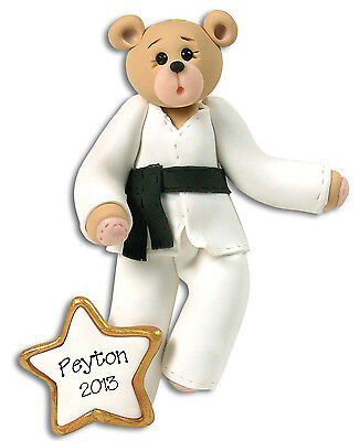 KARATE Bear Personalized Christmas Ornament by Deb & Co | eBay
