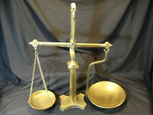Rare-Antique-Large-Brass-Doyle-amp-Son-London-Beam-Scale-Apothecary-Weight