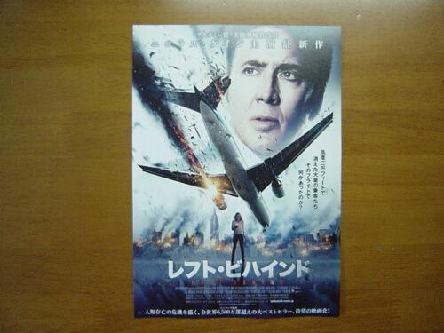Nicolas Cage Left Behind MOVIE FLYER Mini Poster Chirashi Japanese