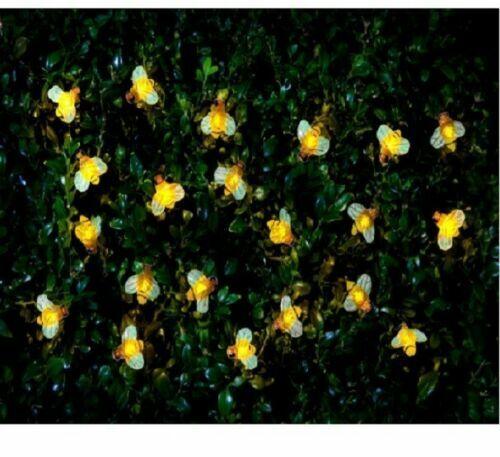 Solar Insect Lumières bogues Abeille//Coccinelle 30 DEL String Jardin Bush Décoration