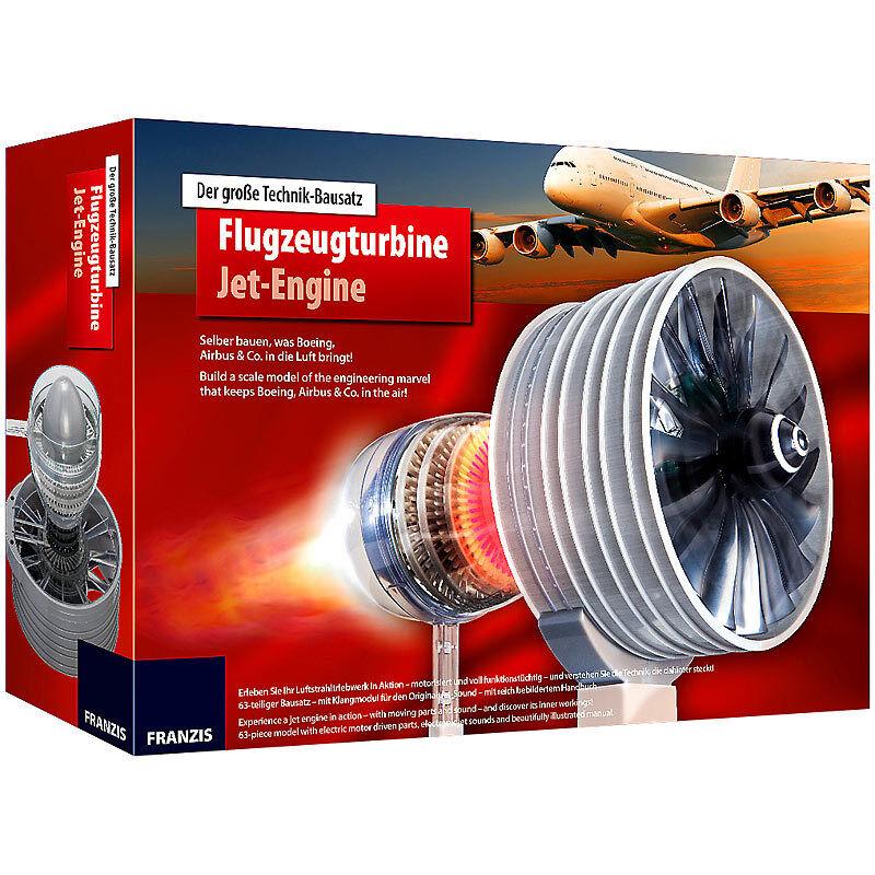 FRANZIS Der große Technik-Bausatz - Flugzeugturbine  | Verkauf