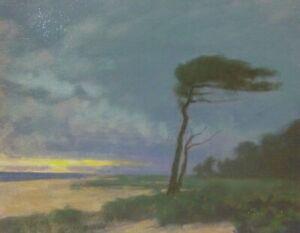 New England Beach Cape Cod Impressionism Art Oil Painting Landscape Clouds ocean