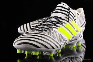 6fafe54e664 New Adidas Nemeziz 17.3 FG Soccer Cleats Boots White-Black S80599 ...