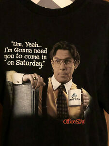 20317f7c42 Office Space Bill Lumbergh T-Shirt 2004 Movie Tee Size Large Mike ...