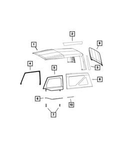 Genuine Mopar Folding Top Staypad Service Kit 68003640AB