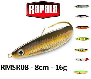 Rapala-Rattlin-039-Minnow-Spoon-Weedless-Fishing-Lure-8cm-16g-Various-Colours