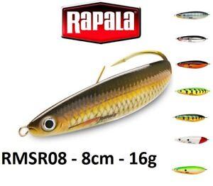 Rapala-Rattlin-039-Minnow-cuillere-bancs-de-peche-leurre-8-cm-16-g-Couleurs-Diverses