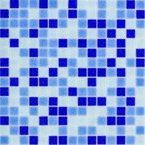 Glasmosaik Fliesen Hellblau Blau Wand Boden Dusche Kuche 10 Matten