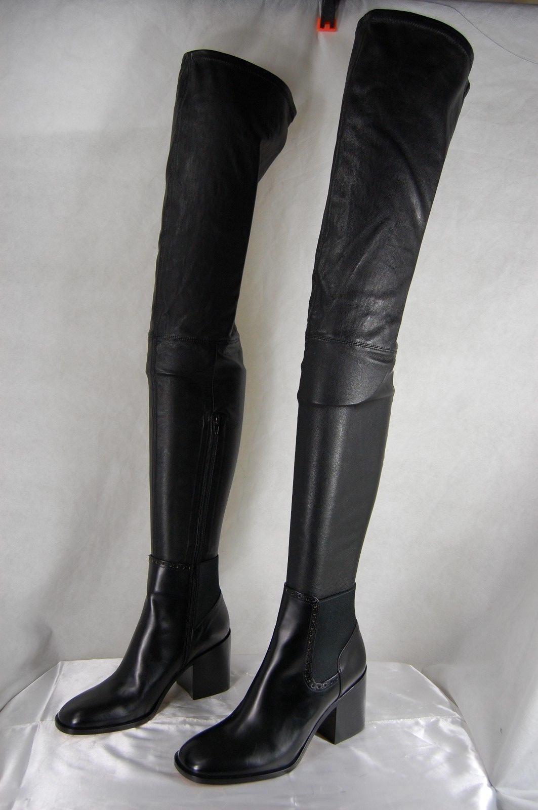 Super Sexy    Maison Martin Margiela Margiela Margiela Cuero Negro botas De Estiramiento EU 37 nos 7  Esperando por ti