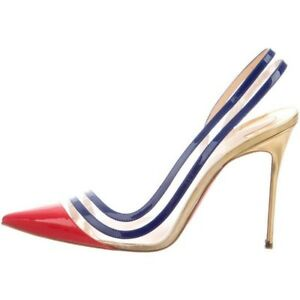 7144e35f87 Image is loading Christian-Louboutin-Paralili-100-patent-leather-and-PVC-