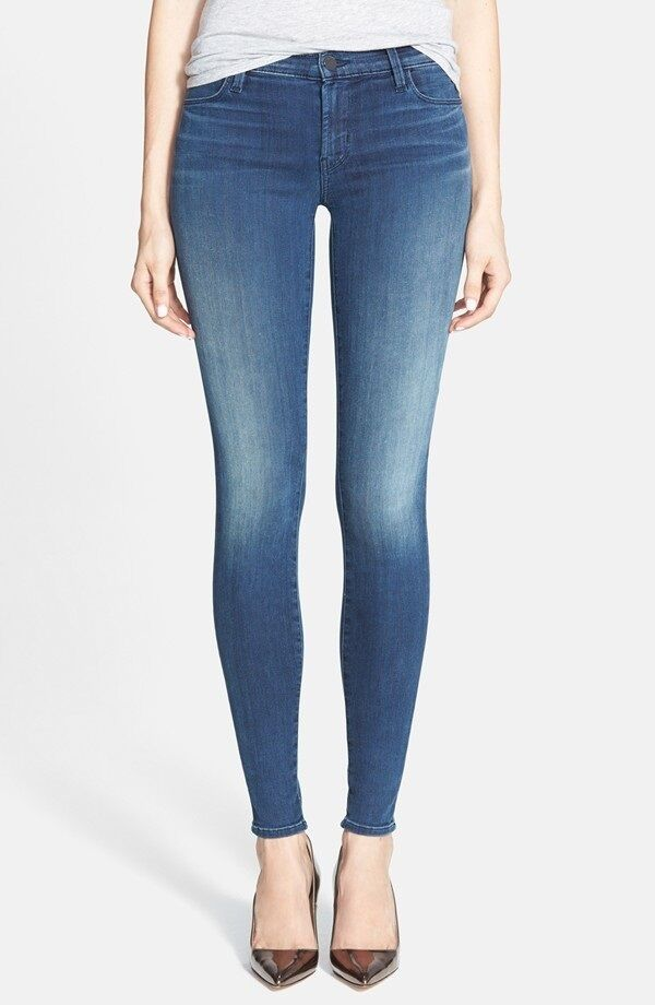 New J Brand Women's Celebrity Mid Rise Super Skinny Stretchy Jeans Pants 620