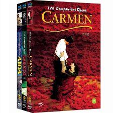 TWI Companion Opera - AIDA+CARMEN+NABUCCO  (3DVD,All,Sealed,New)