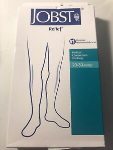 Jobst-Relief-20-30-mmHg-Medical-Compression-Stockings-Sizes-Large-and-X-Large