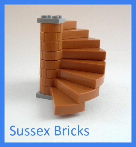 Lego Castle Medium Dark Flesh Complete Spiral Staircase Harry Potter New Pieces