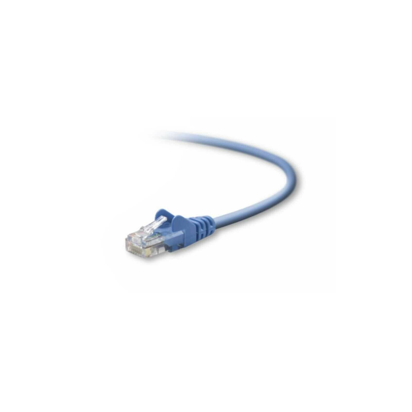 BELKIN CABLE PATCH NETWORK RJ45 CAT5E GOLD PLATED SNAGLESS 1M NEW A3L791B01MBLUS