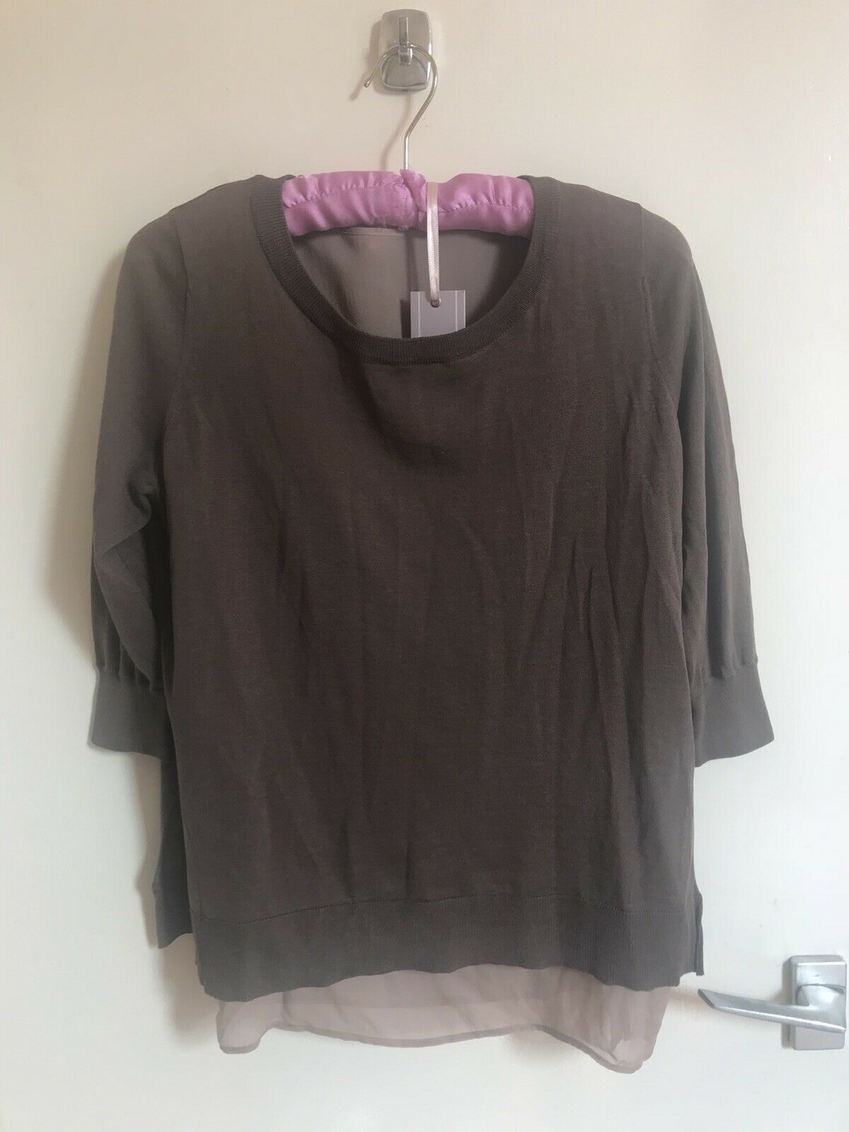 Ladies Bruno Manetti Cotton Silk Blouse Größe S