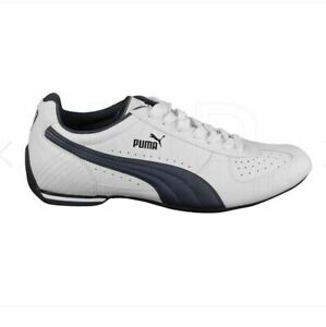 Details about Puma Racer L Mens US 10 UK 9 Trainers 34614001 White Navy Trainers Sneakers