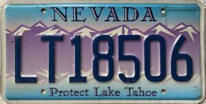 GENUINE-American-Nevada-USA-Protect-Lake-Tahoe-Licence-License-Plate-LT18506