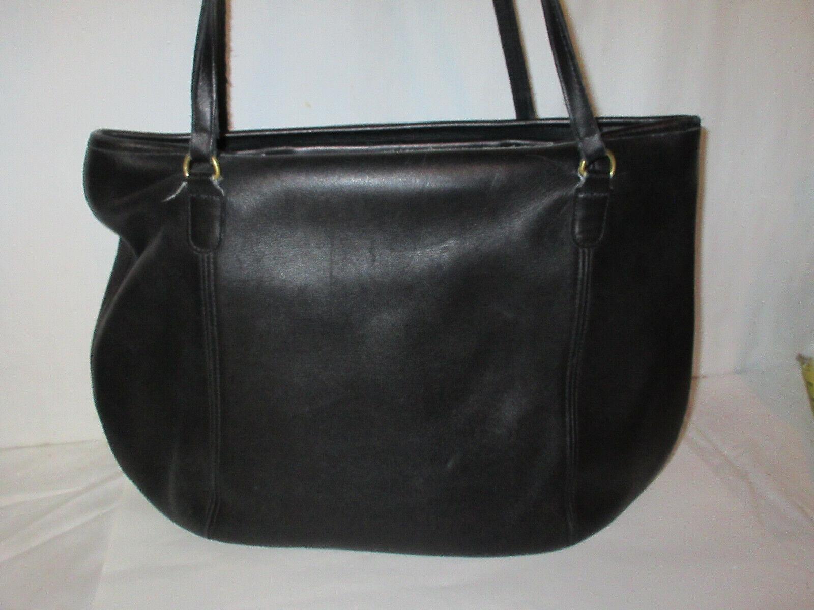 Vtg COACH 9998 Black Leather Large Framed Pouch H… - image 4